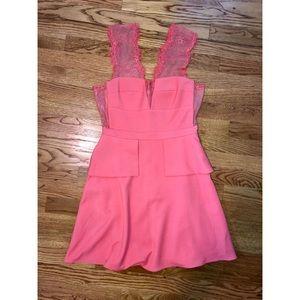 BCBGMAXAZRIA Pink Size 6 Lace Dress
